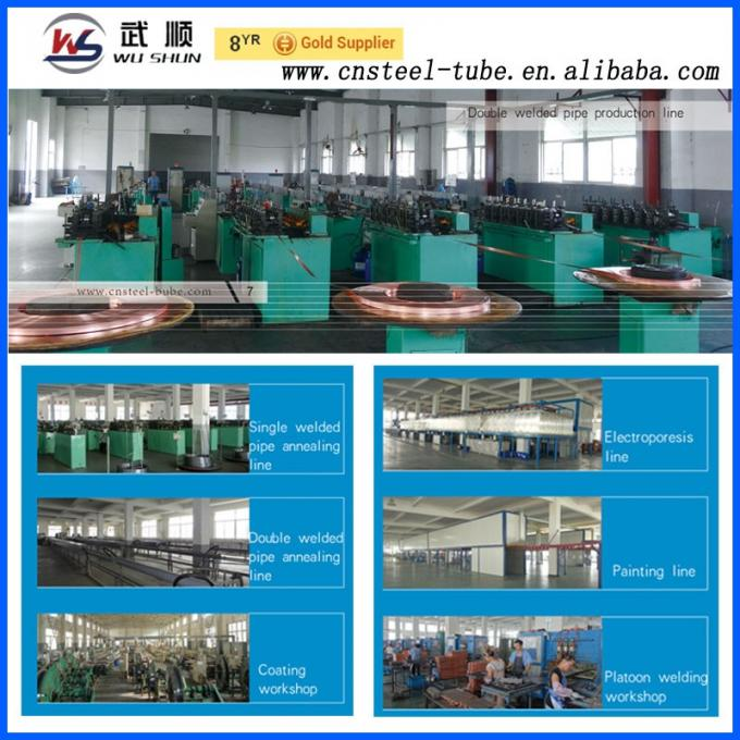 chinese supplier double wall welded steel pipe for refrigerator freezer condenser evaporator