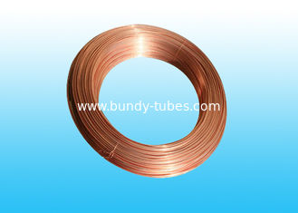 China Round Copper Coated Bundy Tube 8mm X 0.5 mm , 25% Elongation supplier