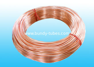 China Low Carbon Copper Coated Bundy Tube 6.35mm X 0.6 mm GB/T 24187-2009 supplier