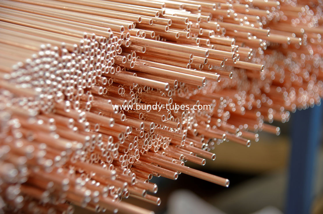 Copper Coated Compressor Tubes , Double Wall Weld Pipes 3.6 * 0.5 mm For Refrigeration System