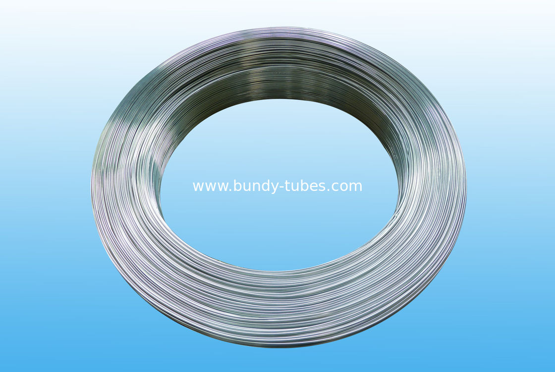 Colorful Zn Coated Bundy Pipe , Galvanized Refrigeration Tube 4 X 0.5 mm