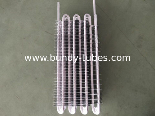Finned Refrigeration Evaporators For Cooling System , Fridge Evaporator