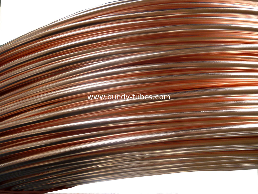 0.65mm Low Carbon Copper Coated Bundy Tube For Refrigerator, Bundy Tubing Price