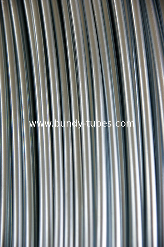 Low Carbon Bright Steel Bundy Tube 4.76mm X 0.5 mm , Freezer Tube