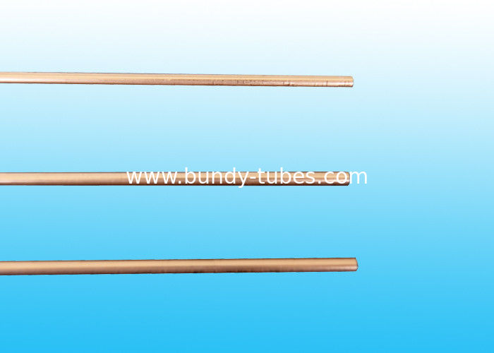 Copper Coated Compressor Tubes , Double Wall Weld Pipes 3.6 * 0.5 mm