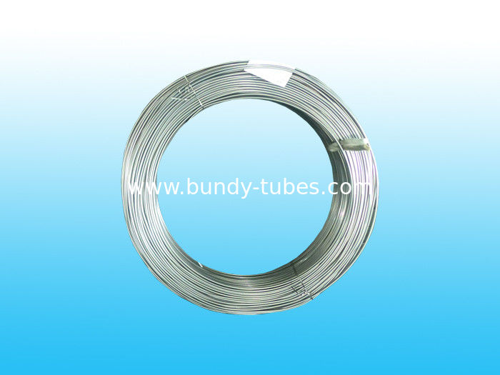 Galvanized Bundy Pipe , Hot Zn Coated Evaporator Tube 6 * 0.5 mm