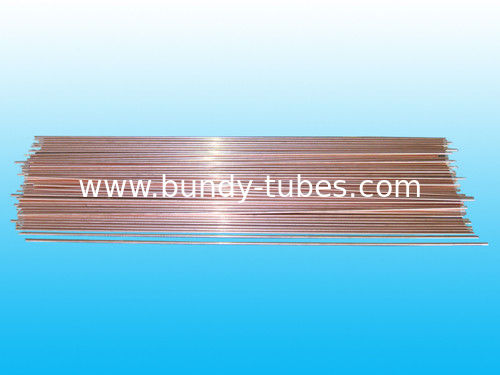 Double Wall Refrigeration Copper Tube 6 * 0.65 mm / Round Bundy Tube