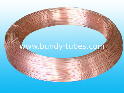 Round Refrigeration Copper Tube / Plating Copper Coated Tube 6 * 0.5 mm