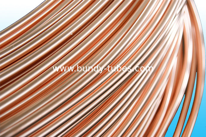 Round Copper Coated Cold Drawn Welded Tubes For Freezer 6 * 0.5 mm