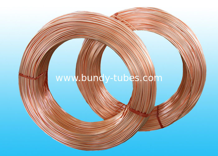 Copper Coated Bundy Tube , Good Plasticity Single Wall 6mm X 0.5 mm