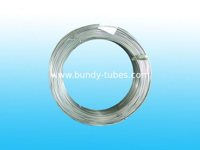 Galvanized Bundy Pipe , Low Carbon Zn Bundy Tube 4 * 0.6 mm