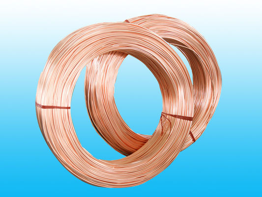 China Copper Coated Steel Evaporator Tube 4.76 * 0.7 mm , Low Carbon Strip factory
