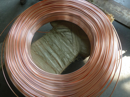China Coppered welded steel pipe / carbon steel tube for household refrigeration system distributor