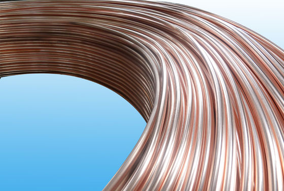 China 0.55mm Low Carbon Copper Coated Bundy Tube For Freezer , Bundy Tubing Company factory