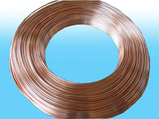 China Heaters single Side Copper Coated Bundy Tube 4.76mm X 0.55mm best price factory
