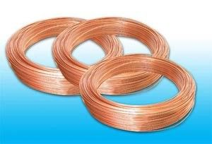 Plated Low Carbon Refrigeration Copper Tube , Bundy Tube 8 * 0.6 mm