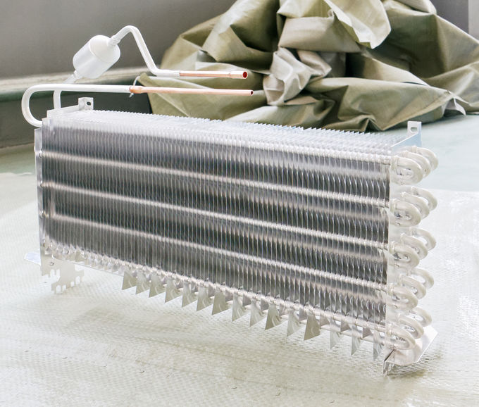 Home Appliance Refrigerator And Freezer Parts Finned Aluminum Evaporator